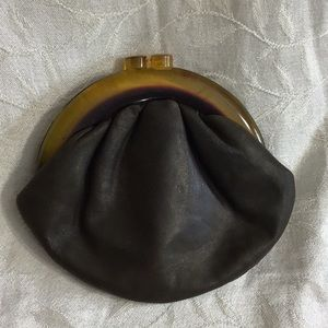 Vintage Budd Creation Leather Change Purse